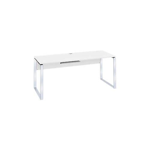 Schreibtisch Nizza, mit Kabeldurchlass, Kufengestell, B 1800 mm