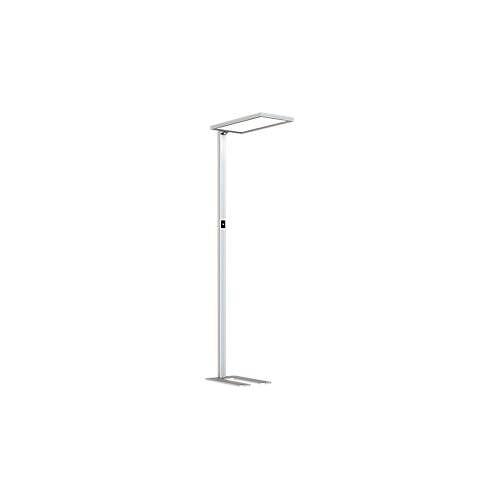 LED Lampe LAVA, dimmbar, für Bildschirmarbeitsplatz, 4000 K, als Stehlampe oder Tischlampe, silbern