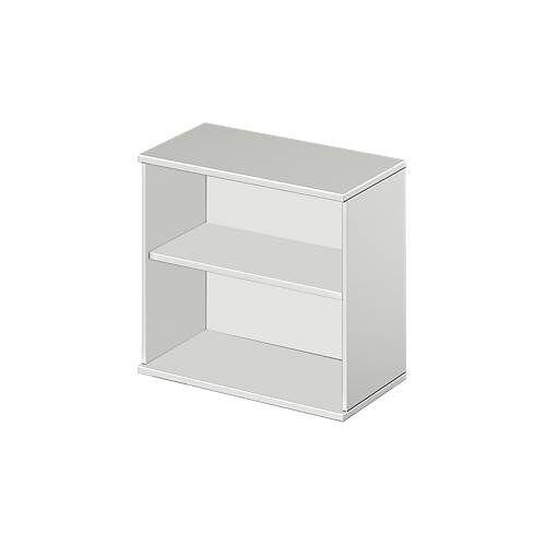 Anstell-/Aufsatzregal Start Up, in Höhe zu Schreibtisch Start Up, 2 OH & 1 Fachboden, B 800 x T 420 x H 726 mm, diverse Dekore