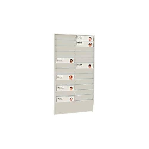 Paperflow Kartenhalter mit Wandhalterungen, 24 Fächer, Einstecktiefe 5 mm