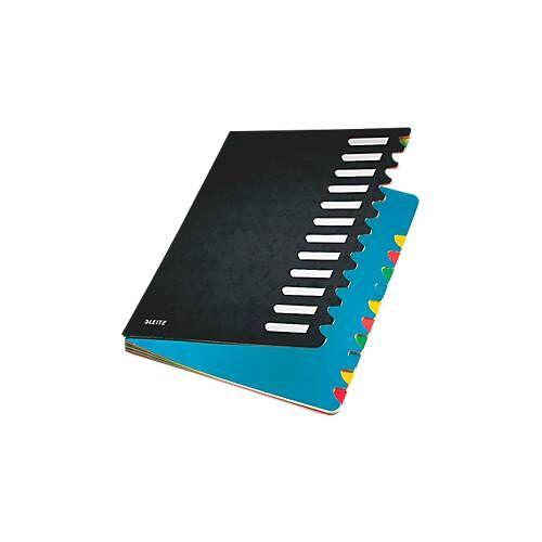 Leitz Pult-Ordner A4, mit 12 Fächern, in div. Farben, aus langlebigem Karton