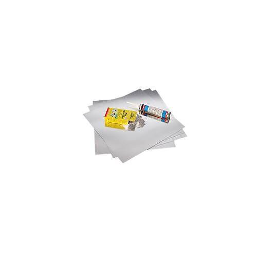 Magnetoplan magnethaftende Wandfläche, 500 x 500 mm, 0,5 mm dick, 4/8/20 Stück