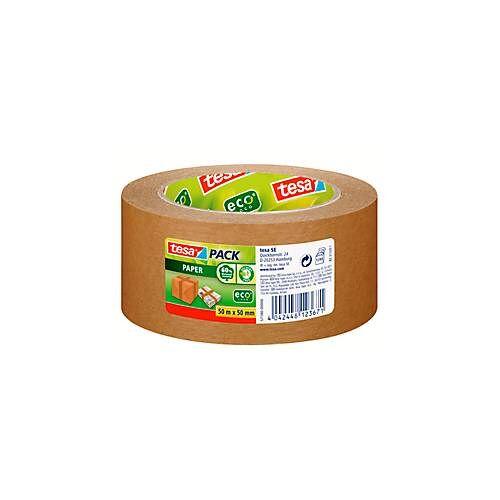 Tesa Packband tesapack® Paper ecoLogo®, aus Papier, 50 m x 50 mm, Stärke 107 µ, 6 Rollen
