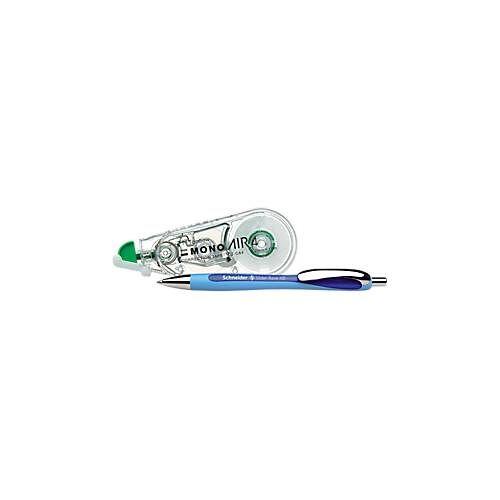 Schneider Sparset: 5x Kugelschreiber Slider Rave - div. Farben, Korrekturroller MONO air - 10 m x 4,2 mm