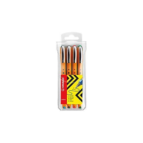 Stabilo Tintenroller STABILO® bionic® worker, 4er-Set
