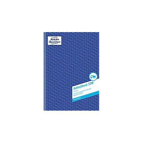 Avery Zweckform AVERY® Zweckform Aufmaßbuch Nr. 1318, 2 Blatt Blaupapier