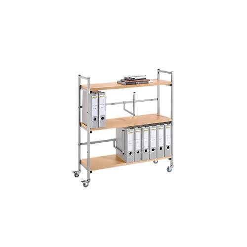 Ordner-Rollwagen, 3 Holzböden