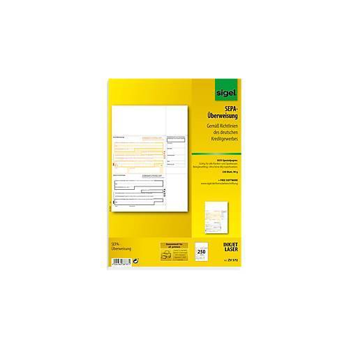 Sigel PC-SEPA-Überweisung sigel® ZV570/572