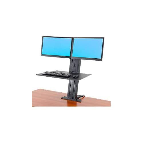 Ergotron WorkFit-SR, Dual-Monitor, Sitz-Steh-Schreibtisch-Arbeitsplatz