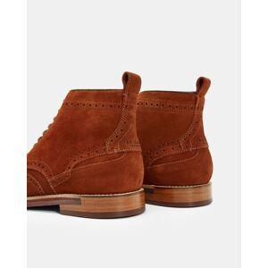 Ted Baker Veloursleder-ankle Boots Im Brogue-stil