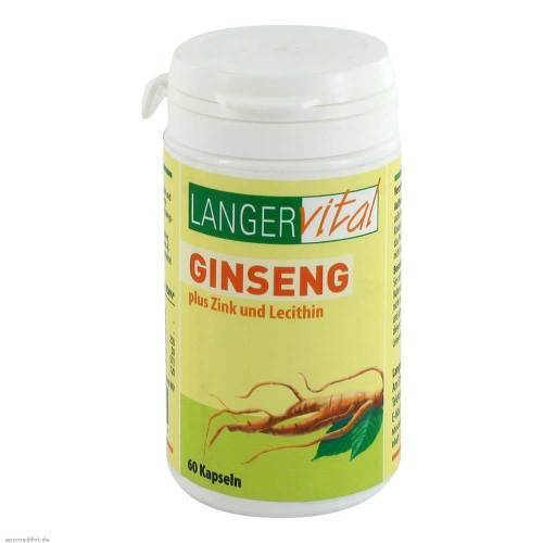 Langer Vital Ginseng 200 mg Lecithin Kapseln