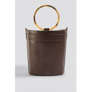 NA-KD Accessories Resin Ring Bucket Bag - Brown