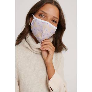 NA-KD Accessories 3Er-Pack Gesichtsmasken - White,Purple,Multicolor
