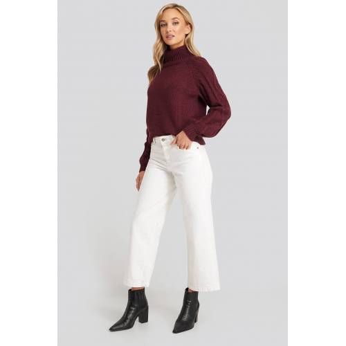 MANGO Culotte Jeans - White