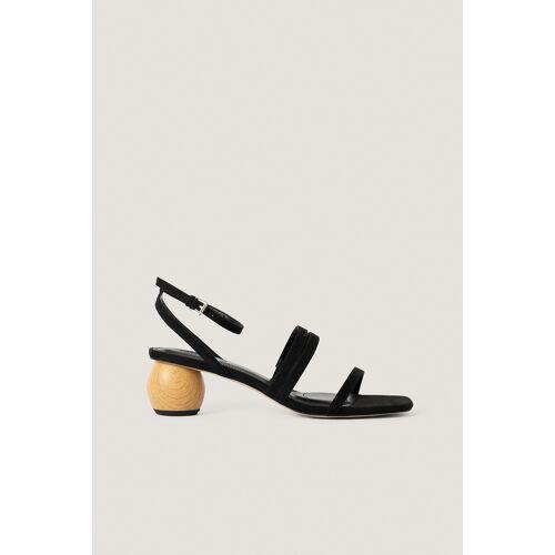 NA-KD Shoes Sandale Mit Niedrigem Absatz - Black
