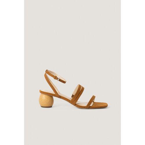 NA-KD Shoes Sandale Mit Niedrigem Absatz - Brown
