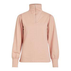 VILA Stehkragen Reißverschluss Sweatshirt Damen Pink Misty Rose L