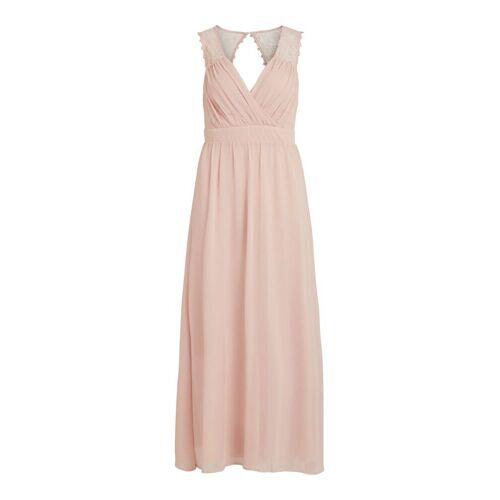 VILA Spitzenoberstoff Abendkleid Damen Pink Rose Smoke 34