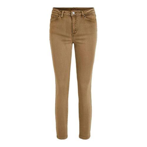 VILA Cropped Skinny Fit Jeans Damen Braun Butternut XS
