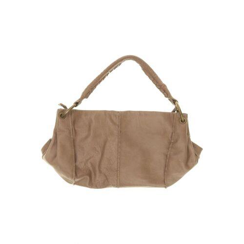BELMONDO Damen Handtasche beige Leder