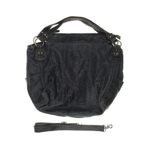 BELMONDO Damen Handtasche blau Leder