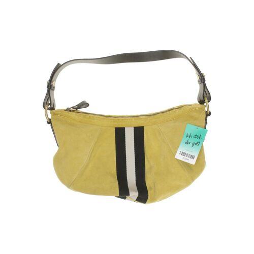 Bally Damen Handtasche gelb Leder