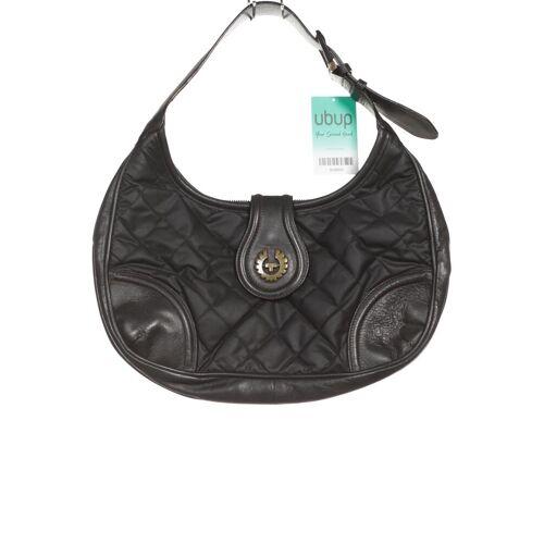 Belstaff Damen Handtasche schwarz Baumwolle Leder