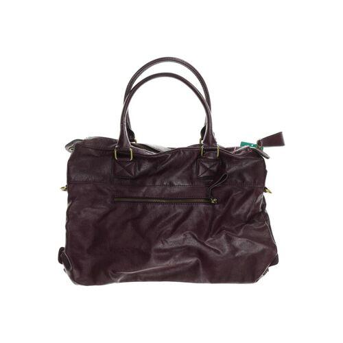 H&M Damen Handtasche lila Kunstleder