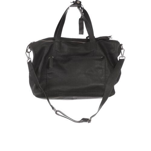 Kiomi Damen Handtasche schwarz Leder