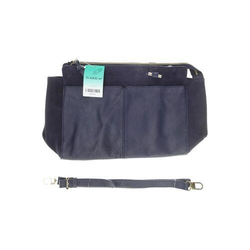 Kiomi Damen Handtasche blau Leder
