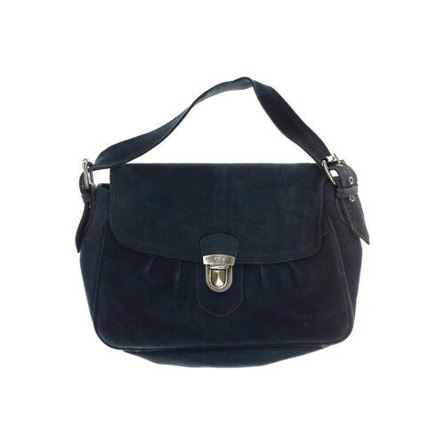 MANGO Damen Handtasche blau Leder