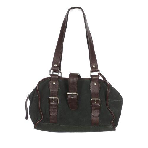 MANGO Damen Handtasche grün Leder