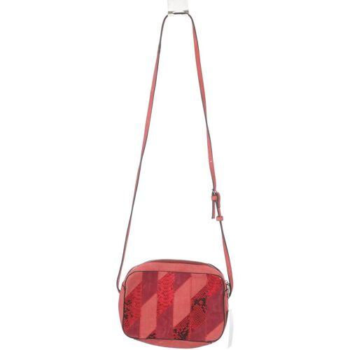 MANGO Damen Handtasche pink Leder