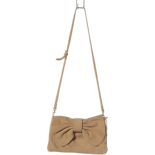 MANGO Damen Handtasche beige Leder