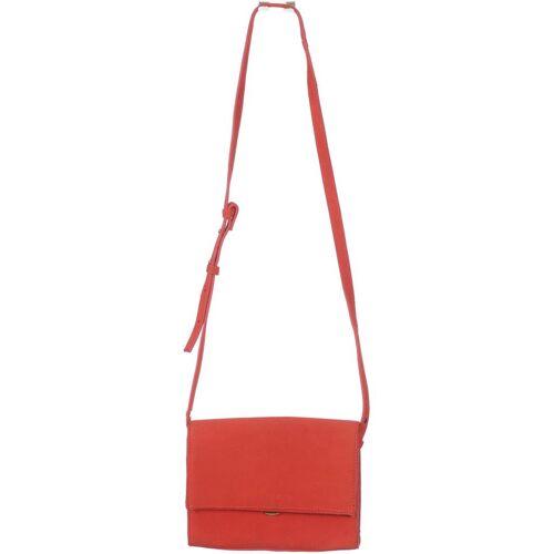 MANGO Damen Handtasche rot Leder