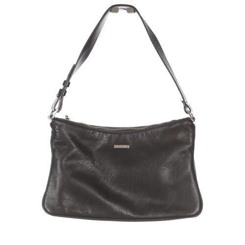 Pollini Damen Handtasche schwarz Leder