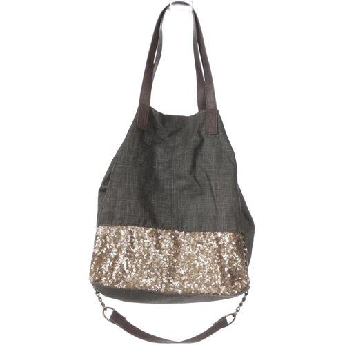 Promod Damen Handtasche grau Baumwolle