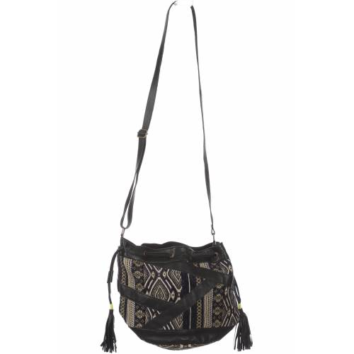 Promod Damen Handtasche schwarz Baumwolle
