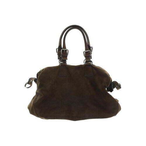 Strenesse Damen Handtasche braun Lackleder Wildleder