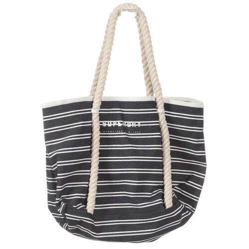Superdry Damen Handtasche grau Baumwolle