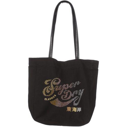 Superdry Damen Handtasche schwarz Baumwolle