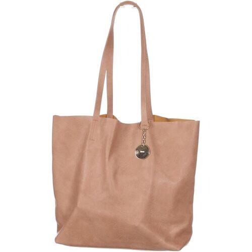 bershka Damen Handtasche beige Kunstleder