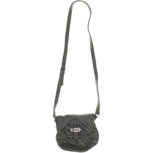 bershka Damen Handtasche schwarz Kunstleder