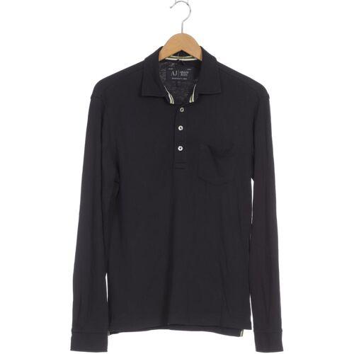 Giorgio Armani Jeans Herren Poloshirt blau kein Etikett INT S