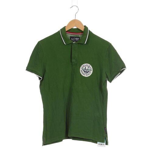 Giorgio Armani Jeans Herren Poloshirt grün kein Etikett INT XL