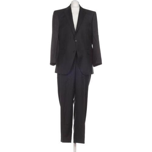 BARUTTI Herren Anzug schwarz Schurwolle Viskose Kurz-Gr. 26