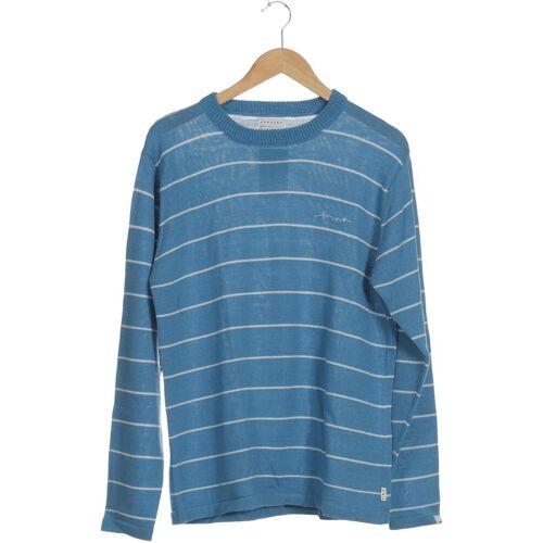 Forvert Herren Pullover blau Synthetik Wolle INT L