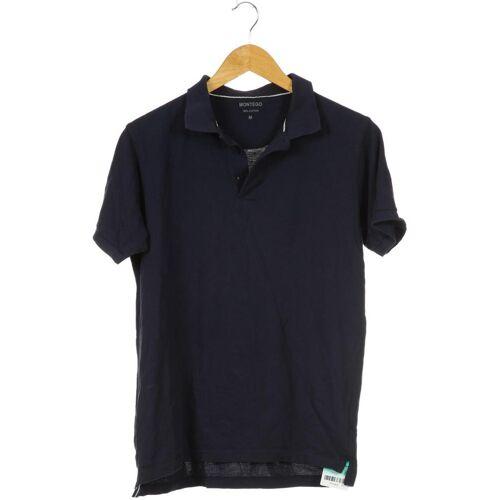 Montego Herren Poloshirt blau Baumwolle INT M