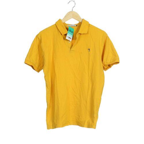 Trussardi Herren Poloshirt gelb Baumwolle INT XL
