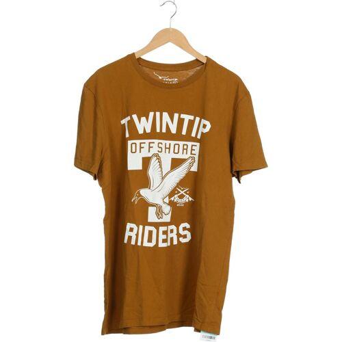 Twintip Herren T-Shirt braun Baumwolle INT XXL